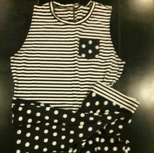 Xhiliration 2 piece crop top and skirt